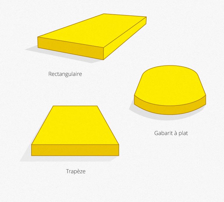 Découpe de mousses - Dimensions personnalisées